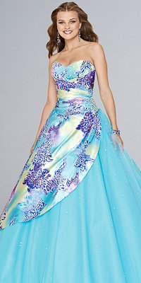 Print Ball Gowns by Mori Lee - Princess Dresses