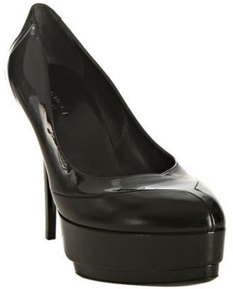 Gucci black leather and patent platform pumps - Platform Pumps