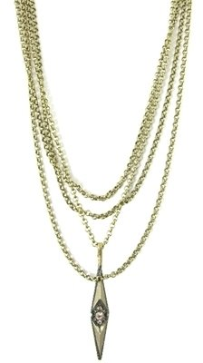 Kardashian Collection - Kardashian Double Point Chain Magdalena Necklace - Layered Necklaces