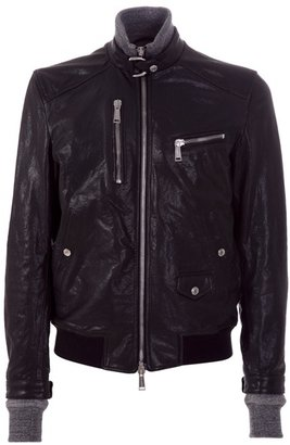 DSQUARED2 - Leather zip jacket - Dress Like Jay-Z