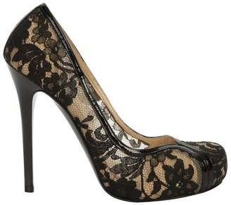 Flesh Lace Pump - Heels