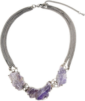 Runway Rock 3 Stone Necklace - Statement Necklace