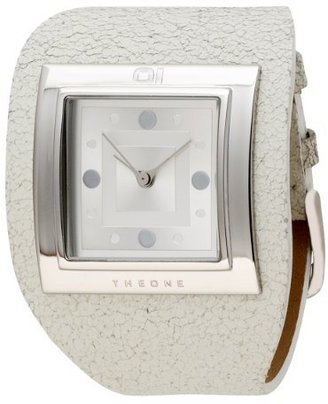 01TheOne Women's AN01M02 Analog Sandwich White Leather Fashion Watch - Wild Watches