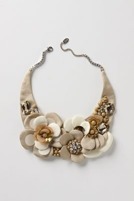 Muted Begonia Necklace - Statement Necklace