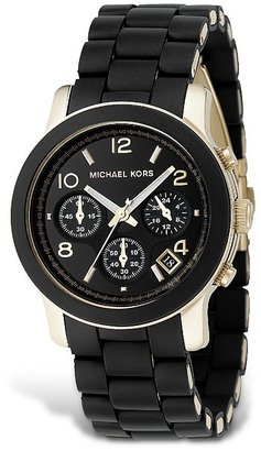 MICHAEL Michael Kors Black Rubber Strap Chronograph Watch, 39 mm - Must Have Michael Kors Watches
