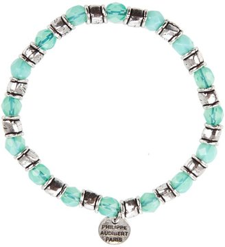 PHILIPPE AUDIBERT - Silver-plated and turquoise bead bracelet - Jewelry