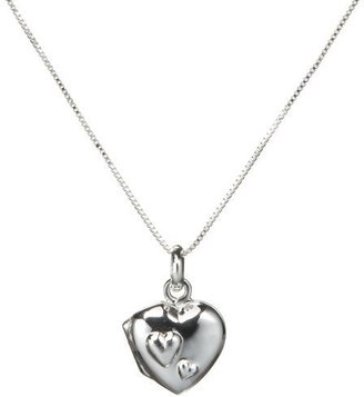Sterling Silver Daughter Heart Locket - Sterling Silver Heart Necklaces