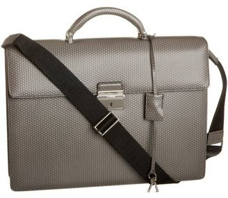a.testoni CT08089 Printed Caviar Briefcase - Endless.com