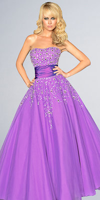 Purple Ball Gowns from Night Moves by Allure - Princess Dresses