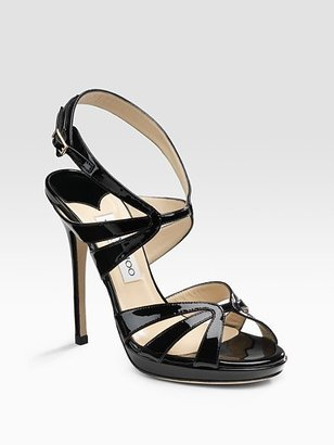 Jimmy Choo Nina Patent Sandals - Evening Sandals
