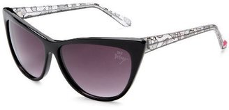 Betsey Johnson Women&#39;s Bj 247 Resin Sunglasses - Retro Cateye Sunglasses