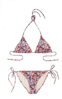String Bikini in Beach Leopard Sunkist or Vintage Splat White - String Bikinis