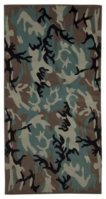 Camo Beach Towel - Multicolor (30x60&quot;) - Target