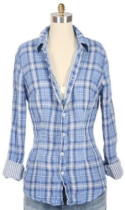 SHIRT Gauze Duofold Button Down Shirt - Plaid Button-Down Shirts 