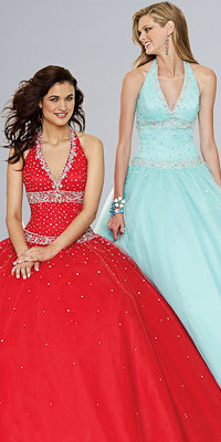 Halter Ball Gowns by Mori Lee - Princess Dresses