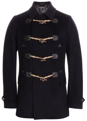 Horn Toggle Cashmere Pea Coat - Outerwear