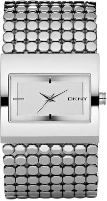 DKNY Crystal Dial Mesh Bracelet Band Watch - Stunning Silver Watches