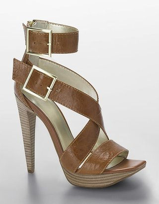 Jessica Simpson Shieva Back-Zip Leather Platform Sandals - Platform Sandals
