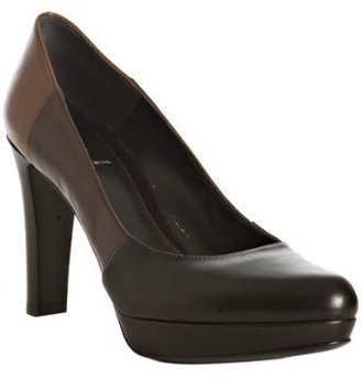 Fendi dark brown colorblock leather pumps - Pumps