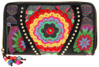 Loop Crochet Zip Around Wallet - Urban Outfitters
