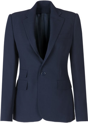 Ralph Lauren Collection Navy Wool Crepe Ralph Jacket - Outerwear