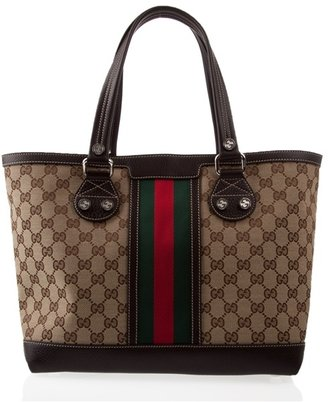GUCCI - Monogrammed tote bag - Oversized Bags