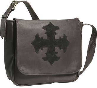 David King &amp; Co. Wide Bottom Cross Messenger - Handbags