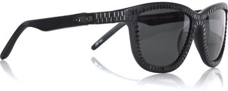 Alexander Wang Zipper square-frame sunglasses - Sunglasses