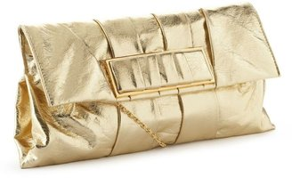 Kate landry metallic slouch flap clutch - Handbags