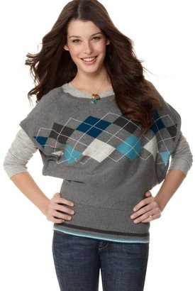 Sweater Project Sweater, Short Sleeve Argyle - Clothes
