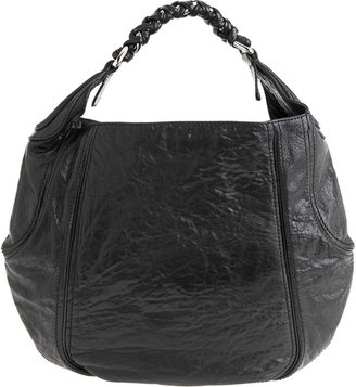 Givenchy Eclipse Shiny Textured Leather Chain Hobo - Black - Givenchy
