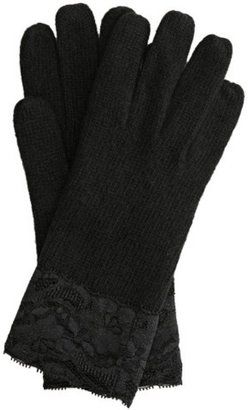 Portolano black cashmere lace trim gloves - Dress Like Jenny Humphrey