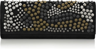 Balmain Night Punk studded suede clutch - Handbags
