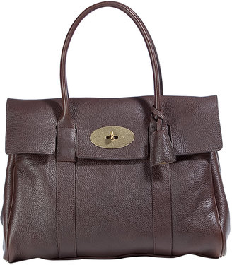 Mulberry Chocolate Bayswater Natural Veg Tanned Bag - Mulberry