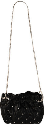 Quilted Stud Shoulder Bag - Forever 21