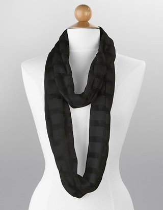Echo Shadow-Striped Infinity Loop Scarf - Accessories