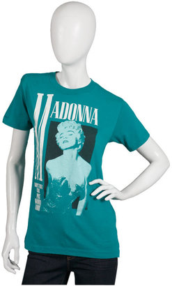 WGACA Vintage Madonna 1987 Concert Tee in Green-collectors item - Clothes