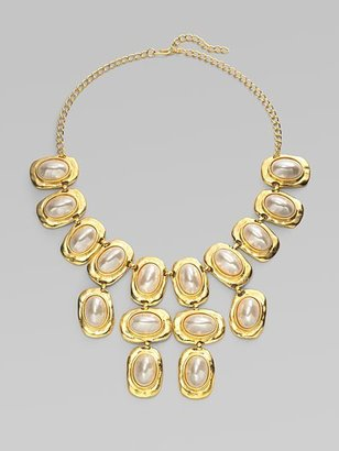 Kenneth Jay Lane Three-Row Bib Necklace - Chandelier Necklaces
