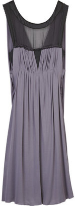 Alberta Ferretti Pleated silk-blend dress - Alberta Ferretti