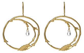 Catherine Weitzman Leaf Hoop Earrings - Hoop Earrings