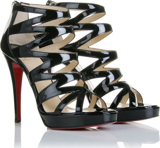 Christian Louboutin Fernando 120 Patent Leather Sandals - Dress Like Emma Roberts