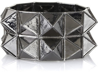 Kenneth Jay Lane Metal pyramid cuff - Magnificent Metals