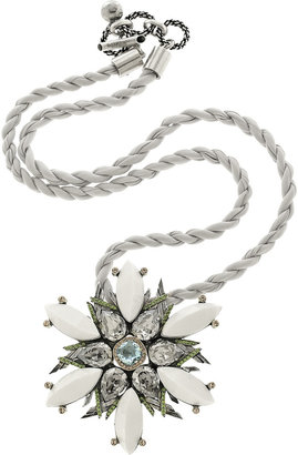 Lanvin Snowflake Swarovski crystal necklace -  Luxurious Lanvin Jewelry