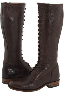 Frye - Vienna Lace Up (Dark Brown) - Fall Boot Trends