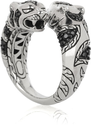 John Hardy Palu Macan sterling silver tiger ring - Pouncing Panther Jewels 