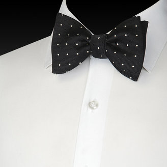Black and White Benson Spot Bowtie - Bowtie