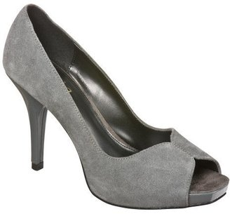 Women&#39;s Mossimo Vilma Peep-Toe Pumps - Grey - Heels