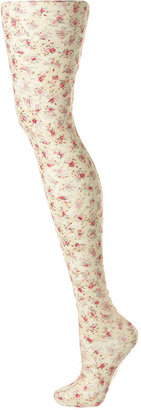 Printed Lace Floral Tights - Topshop