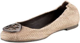 Tory Burch Python-Print Reva Flat - Casual Shoes