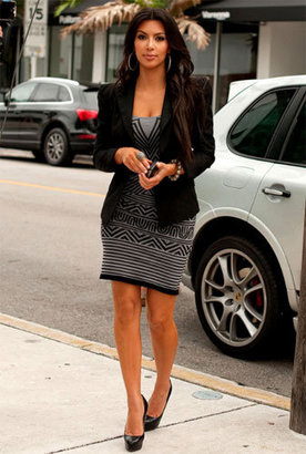 Thatcher Evolve Intarsia Dress - As Seen On Kim Kardashian - Kim Kardashian Style Dresses